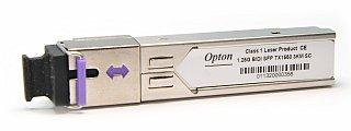 Moduł SFP miniGBIC OPTON WDM, TX1550 1.25Gbps, SM, SC, 3km, DDM