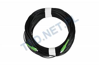 Patchcord optyczny zewnętrzny OPTIX AirFlow DROP S-QOTKSdD SC/APC-SC/APC simplex SM 9/125 - 70m
