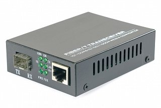 Konwerter OPTON MC220S (gniazdo SFP, 10/100/1000Mbit)
