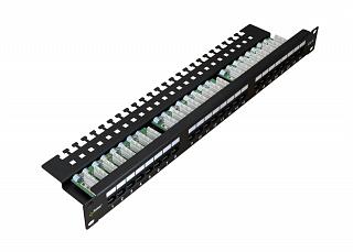 "Patch panel UTP 19"" Pulsar RP-U24V6 24 porty kat.6 (z organizerem kabli)"