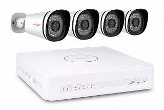 Zestaw do monitoringu IP Foscam FN3108XE-B4-1T - 4 kamery 1Mpix, rejestrator 8-kanałowy z dyskiem 1TB, PoE