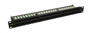 "Patch panel UTP 19"" Pulsar RP-U48V5 48 portów kat.5e (z organizerem kabli)"