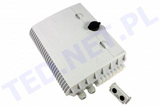 Przełącznica nasłupowa Tracom FTTX MDU C16 (2xPG / Uncut Port) - 2 wejścia, 16 wyjść