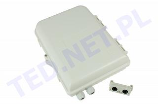 Przełącznica nasłupowa Tracom FTTX MDU B16 (2xPG / Uncut Port) - 2 wejścia, 16 wyjść