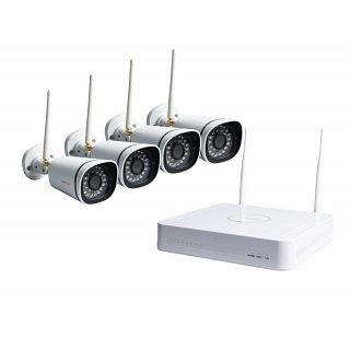 Zestaw do bezprzewodowego monitoringu IP Foscam FN3104W-B4 - 4 kamery 1Mpix, rejestrator 4-kanałowy z dyskiem 1TB, WiFi