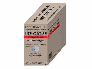 Kabel UTP MAXCABLE zewnętrzny, z linką nośną Cu kat. 5e 500m