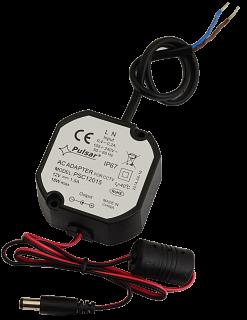 Zasilacz impulsowy wtyczkowy do CCTV Pulsar PSC12015 12V 1,5A (IP67)