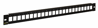 "Patch panel 19"" Pulsar RAP-RJ45 24 porty, pusty"