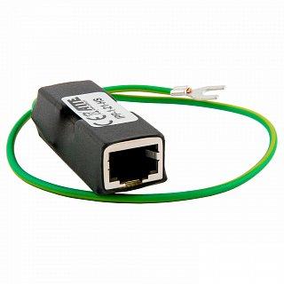Zabezpieczenie przeciwprzepięciowe urządzeń ETHERNET oraz PoE IPP-1-21-HS (ekranowane złącza)