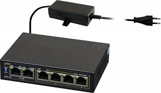 Switch PoE Pulsar S64 - 6 portowy, 4 porty PoE 802.3af