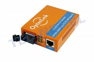 Konwerter OptecLink 14S-MC112CS-GE (WDM 20km, TX 1310nm, SC, 10/100/1000Mbit)