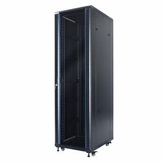 """Szafa rack START.LAN 19"""" 42U/600x800mm drzwi szklane, stojąca, czarna (STLFSC-42U-68-GSB)"""