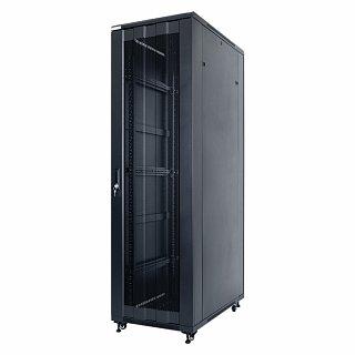 """Szafa rack START.LAN 19"""" 42U/600x1000mm drzwi perforowane, stojąca, czarna (STLFSC-42U-610-SSB)"""