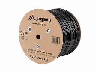 Kabel UTP Lanberg kat. 6 zewnętrzny, żelowany 305m