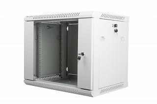 "Szafa rack Lanberg 19"" 9U/450mm drzwi szklane, wisząca, szara (WF01-6409-10S)"