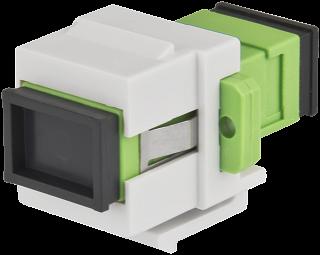 Adapter światłowodowy keystone SC/APC - SC/APC SM Pulsar SC/APC-1SM-K
