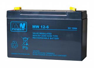 Akumulator bezobsługowy MW Power MW 12-6 (6V 12Ah)