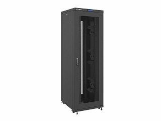 """Szafa rack Lanberg 19"""" 42U/800x1000mm drzwi perforowane, wyświetlacz, stojąca, czarna (FF02-8042L-23B)"""