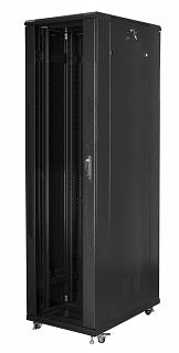 """Szafa rack Lanberg 19"""" 47U/800x1000mm drzwi szklane, stojąca, czarna (FF01-8047-12B)"""