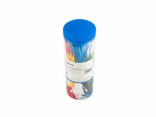 Zestaw kolorowych opasek zaciskowych Lanberg 100 x 2,5mm - 150szt., 200 x 3,5mm - 150szt.