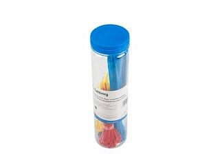 Zestaw kolorowych opasek zaciskowych Lanberg 100 x 2,5mm - 100szt., 200 x 3,5mm - 50szt.