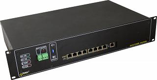 """Switch PoE Pulsar RSUPS98 - 9 portowy, 8 portów PoE 802.3af z zasilaczem buforowym, do szafy rack 19"""""""