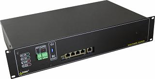 """Switch PoE Pulsar RSUPS54R - 5 portowy, 4 porty PoE 802.3af z zasilaczem buforowym dla kamer i rejestratora, do szafy rack 19"""""""