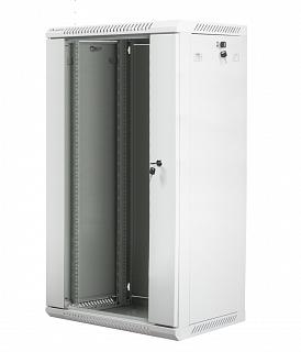 "Szafa rack Lanberg 19"" 22U/450mm drzwi szklane, wisząca, szara (WF01-6422-10S)"