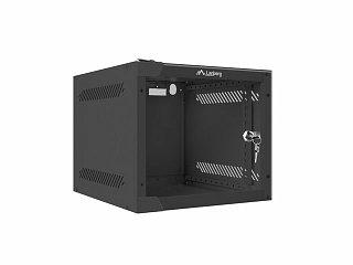 """Szafa rack Lanberg 10"""" 4U/310mm drzwi szklane, wisząca, czarna (WF10-2304-10B)"""