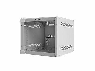 "Szafa rack Lanberg 10"" 4U/310mm drzwi szklane, wisząca, szara (WF10-2304-10S)"