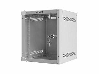 "Szafa rack Lanberg 10"" 6U/310mm drzwi szklane, wisząca, szara (WF10-2306-10S)"