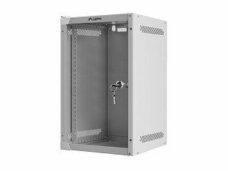"Szafa rack Lanberg 10"" 9U/310mm drzwi szklane, wisząca, szara (WF10-2309-10S)"