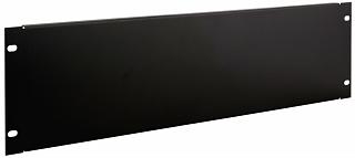 """Maskownica / panel zaślepiający do szafy rack 19"""" 3U - czarny"""