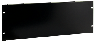"""Maskownica / panel zaślepiający do szafy rack 19"""" 4U - czarny"""