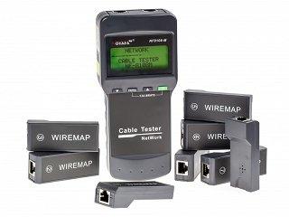 Tester okablowania RJ45 UTP/FTP Noyafa NF-8108M - 8 terminatorów (MT8108, SC8108) + GRATIS