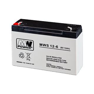 Akumulator bezobsługowy MW Power MWS 12-6 (6V 12Ah)