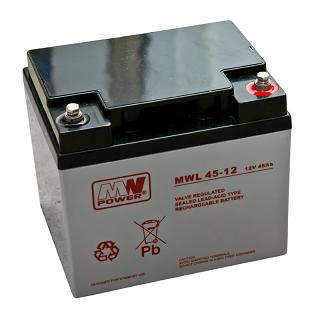 Akumulator bezobsługowy MW Power MWL 45-12 (12V 45Ah)
