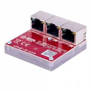 Switch PoE ATTE xPoE-3-11A (1xPoE IN 802.3at/af + 2xPoE OUT, zasilany z PoE, max 40W, sekwencyjny start PoE OUT)