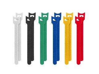 Organizery kabli - rzepy, kolorowe - 12mm x 15cm - Lanberg ORG01-MT150-MC6 - 12szt.