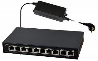 Switch PoE Pulsar S108-90W - 10 portowy, 8 portów PoE 802.3af, 2 porty Uplink
