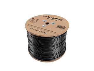 Kabel FTP Lanberg kat. 5e zewnętrzny 305m (LCF5-21CU-0305-BK)