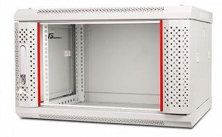 """Szafa rack GetFort 19"""" 6U/450mm drzwi szklane, wisząca, szara (WGB06-64EH-WGG)"""