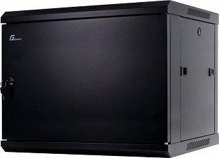 """Szafa rack GetFort 19"""" 9U/450mm drzwi metalowe, wisząca, czarna (WGB09-64EH-WSB)"""