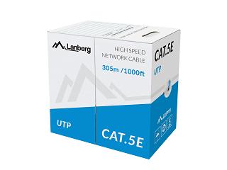 Kabel UTP Lanberg kat. 5e 305m (Al/Cu) - niebieski