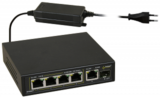 Switch PoE Pulsar SFG64F1 - 6 portowy, 4 porty PoE 802.3af Gigabit, 1 port Gigabit,1 port SFP