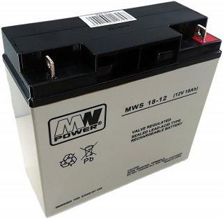 Akumulator bezobsługowy MW Power MWS 18-12F (12V 18Ah)