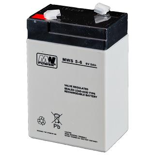Akumulator bezobsługowy MW Power MWS 5-6 (6V 5Ah)