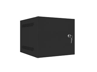 """Szafa rack Lanberg 10"""" 6U/310mm drzwi metalowe, wisząca, czarna (WF10-2306-00B)"""