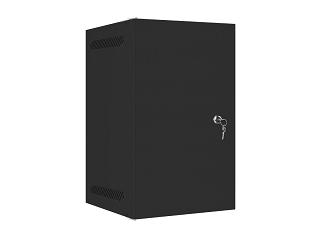 """Szafa rack Lanberg 10"""" 9U/310mm drzwi metalowe, wisząca, czarna (WF10-2309-00B)"""