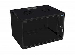 "Szafa rack Mirsan 19"" 4U/400mm drzwi szklane, wisząca, czarna (MR.SOH04U40MN.01)"